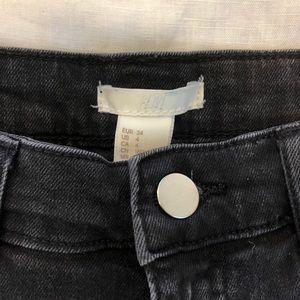 H&M Shorts - Black Comfortable Denim Shorts